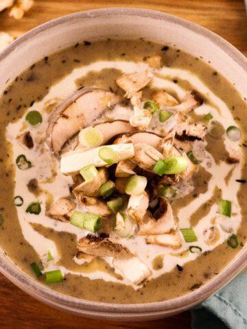 Creamy Mushroom Soup with Baby Bella Mushrooms
