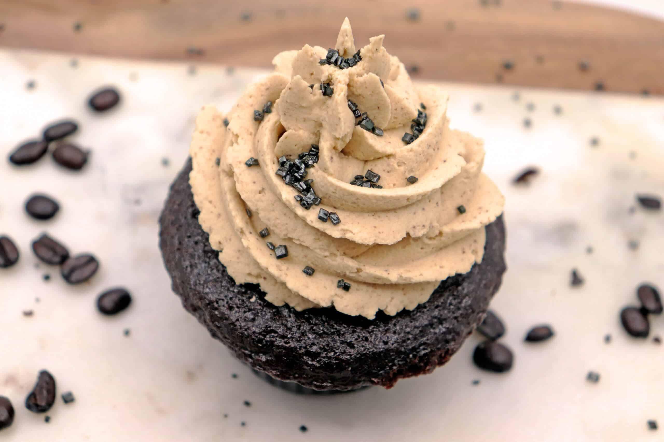 Chocolate Cupcakes with Espresso Buttercream