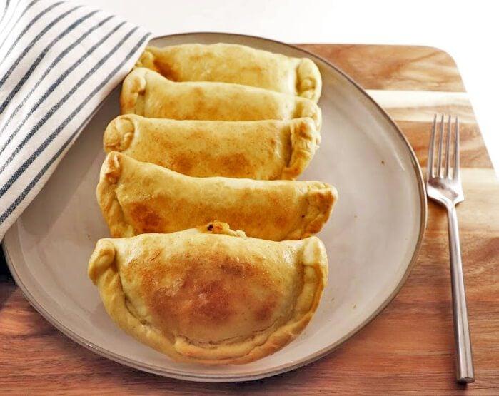 Empanada Dough Four on a Plate