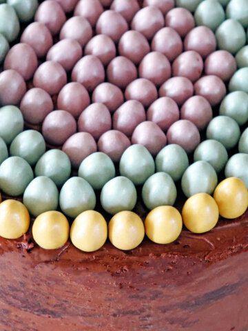 Cadbury Mini Egg Cake Top Down